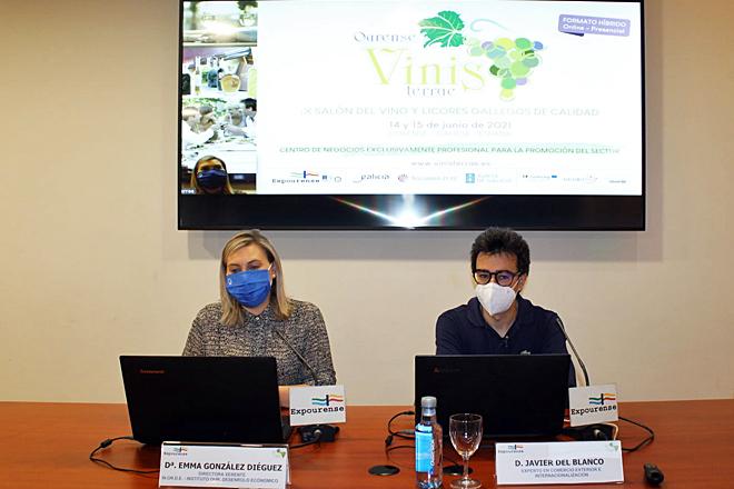 Javier del Blanco, en un momento de la masterclass sobre herramientas digitales impartida en Expourense