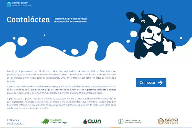"""Xa está disponible """"Conta Láctea"""", a ferramenta que axudará a profesionalizar as ganderías de vacún de leite de Galicia"""