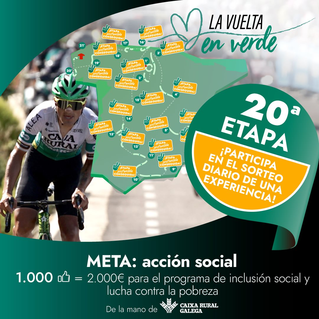 Cartaz da acción promovida por Caixa Rural Galega