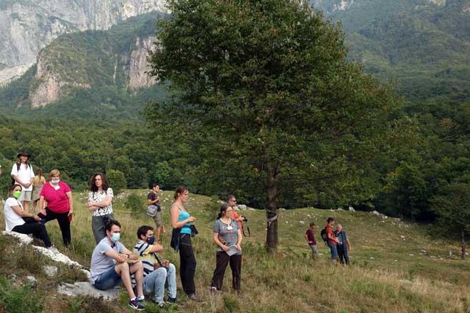 Un momento de una visita a pastizales de montaña.