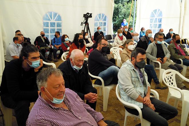 Público participante nas xornadas organizadas en Vilela