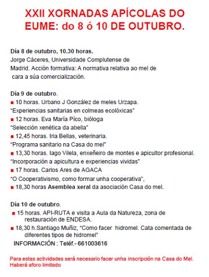 XORNADAS APICOLAS EUME 2021 2