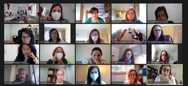 A reunión de Pontevedra contou tamén con asistentes vía online.